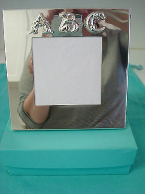 TIFFANY sterling silver ~ BABY CHILD ABC ANIMALS PICTURE FRAME ~ FABULOUS!