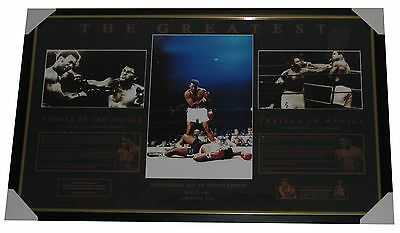 Muhammad Ali Signed photo Framed Memorabilia Boxing Limited Edition LE900