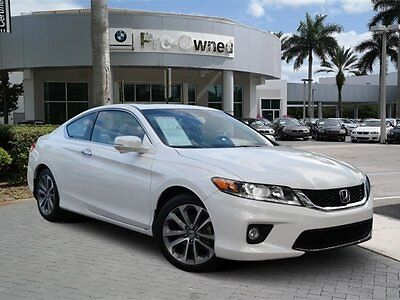 2013 Honda Accord EX-L Coupe 2-Door 2013 Coupe Used Gas V6 3.5L/212 6-Speed Automatic w/Manual Shift FWD White