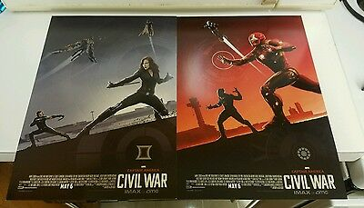 Captain America Civil War AMC IMAX EXCLUSIVE POSTERS #2, 3, Black widow/Iron man
