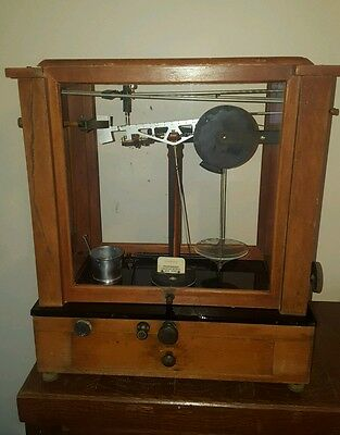 Antique Christian Becker Apothecary Analytical Balance Scale Pharmacy Jeweler