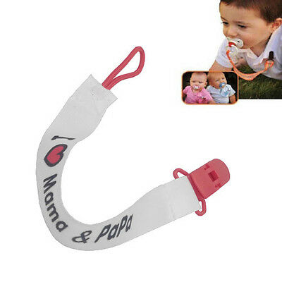 Baby Boys Girls Dummy Pacifier Soother Nipple Leash Strap Chain Clip Holder New