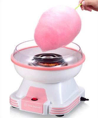 220V Electric Mini Cotton Candy Maker Machine Sugar Home Kit 500W Kids Gift Pink