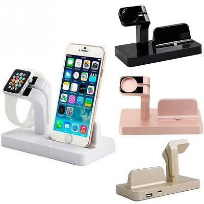 Charging Cradle Bracket For iPhone Apple Watch Station Charger Dock Holder Stand