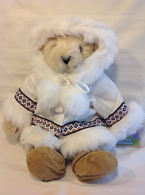 NWT Vermont Teddy Bear Arctic Holiday Bear Eskimo Coat Shoes Jointed Beige