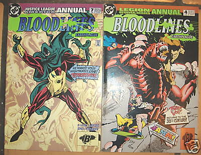 2 Issues Of Bloodlines: Earthplague Dc Comics