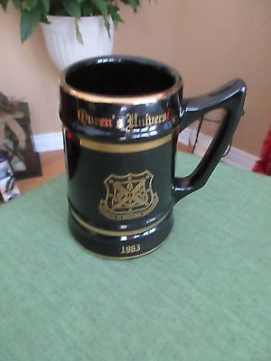 Nice Vintage 1963 Queen's University Arts Mug Stein Pottery by WC BUNTING CO.