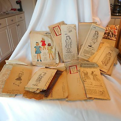 Seven Children Vintage Pattern Lot AS IS mostly 1940's ( A2