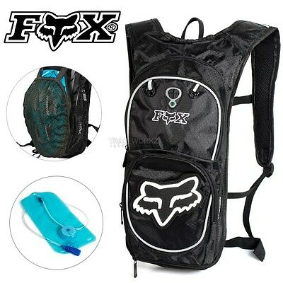 2L FOX Hydration Water Backpack Bag Pack Rucksack Camping Hiking Cycling Bladder