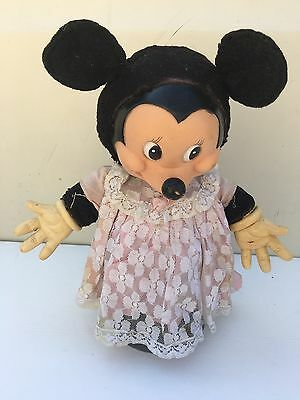 Very Old Vintage/antique Collectible Minnie Mouse Plush Doll 10""