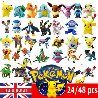 24/48/144pcs Pokemon Monster Mini figure 2-3cm Action Figures in CuteToys Random