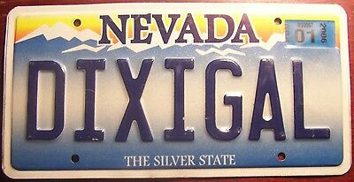 2006 Nevada Vanity Personalized License Plate Tag Dixie Girl Gal Southern Belle
