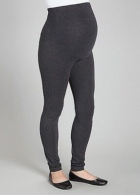 Nwt Cotton Charcoal Maternity Overbelly Leggings, M
