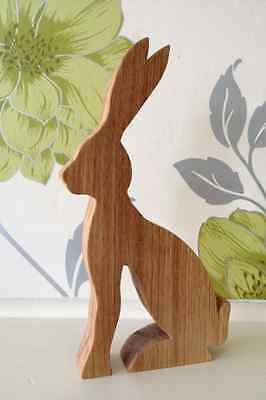 Solid Oak Hare * Handmade in Yorkshire *