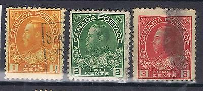 Canada 1922-31 King George V selection SG 246-8 Used