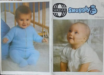 Vintage Sirdar Baby Knitting Pattern Book-Layette,jumpers,jackets,dress,shawl++