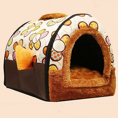 Newest Pet House Thick Plush Kennel Dampproof Multi-use Cat Dog Bed Relaxing Mat