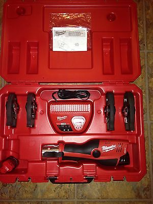 Milwaukee 2473-22 M12 Force Logic Battery Operated Crimper 4 Jaws Propress NEW