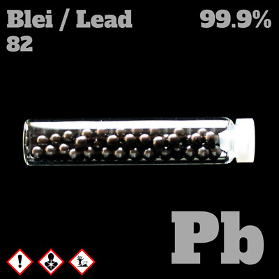 Lead metal 82 Pb - Blei Metall Probe - Pure Element Sample - 99,9% Plumbum