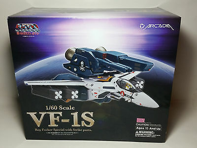 New Arcadia 1/60 Macross VF-1S Roy Focker Special with Strike Parts *US Seller*