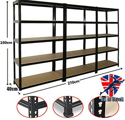 Panana Rack Bay Garage Shelving Unit Heavy Duty 5Tier Shelf Steel Storage Shelve