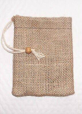 """""""d!e Powder"""" Small Natural Jute Dispensing Bag, For Use With Diatomaceous Earth"""