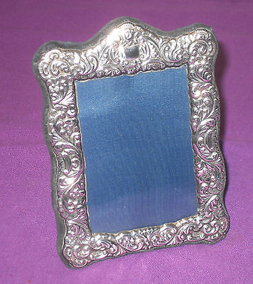 Vintage Very Stylish 1992 Sterling Silver Easel Photo Picture Frame Antique