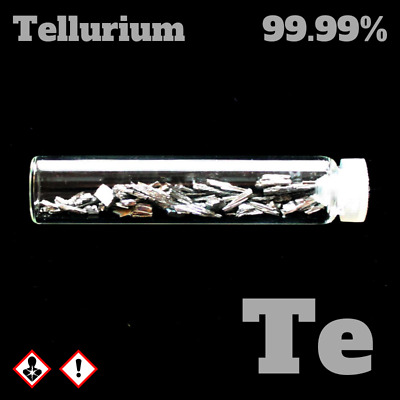 Tellurium metal 52 Te - 99,99% - Tellur Metall Probe rein - Pure Element Sample