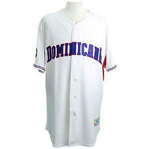 WBC Dominican uniform home majestic 2009 Authentic Jersey/Shirtss