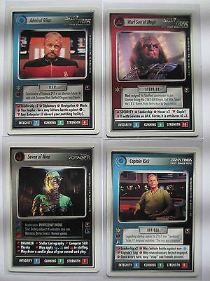 Star Trek CCG - Promo Set - The Dominion Previews Cards - Riker Worf Seven Kirk