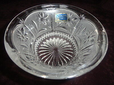 Frosted Etched And Cut Cryystal Bowl  5 Inches
