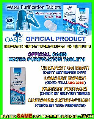 Oasis Water Purification Tablets camping hiking potable prepper