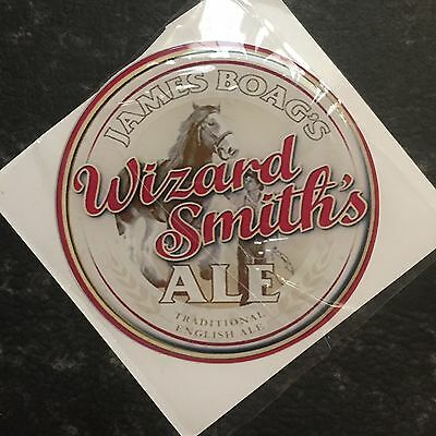 James Boag's Wizard Smith's Beer Tap Badge, Decal, Top