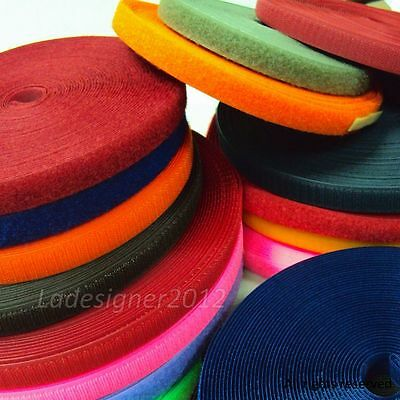 LOVETEX Brand  HOOK ONLY/LOOP ONLY 5/8 inch (16mm)  5 Yards Sew On Fastener Tape