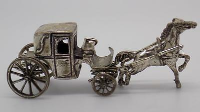 Vintage Solid Silver Carriage Miniature - Stamped - Made in Italy