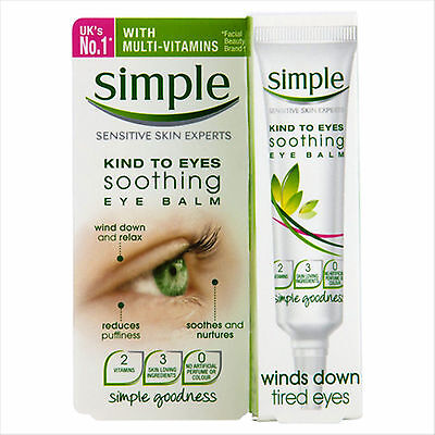 Simple Kind To Eyes Soothing Eye Balm 15ml New