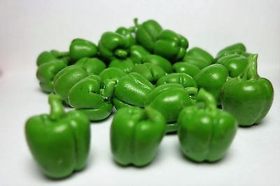 1:12th  Pack Of 8 Green  Bell Peppers Doll house Miniatures Vegetables