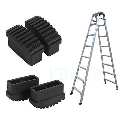 Durable 2Pcs Replaceable Black Rubber Feet Non Slip Ladder Foot Mat Cushion Sole