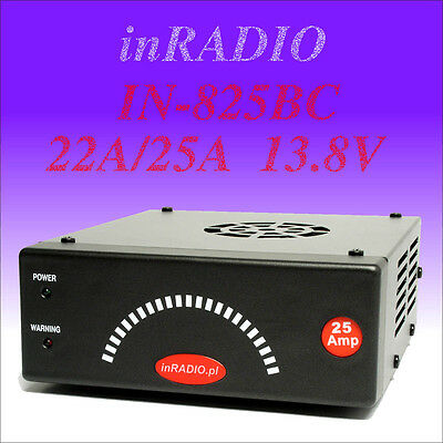 INRADIO IN-825BC - Bloc d'alimentation - 22A/25A 13.8V BATTERY CHARGE FUNCTION!