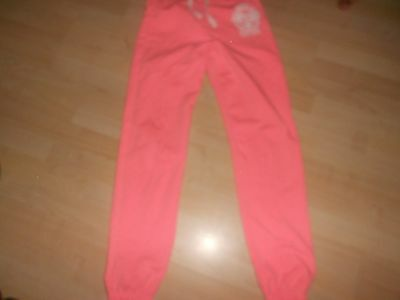 Girls peach tracksuit bottoms/ joggers ager 12-13 years
