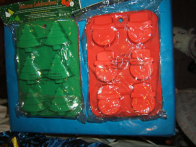 BNIP - Christmas Tree and Snowmen silicone cake / ice cream / chocolate  moulds