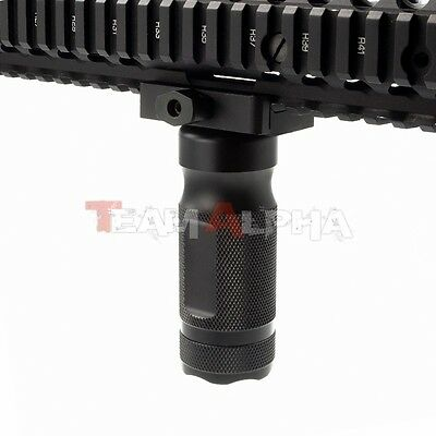 """BK 4"""" Aluminum Tactical Vertical Stubby ForeGrip w/Battery Storage For 20mm Rail"""