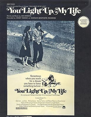Vintage 1977 You Light Up My Life Piano Guitar Voice Sheet Music Debby Boone