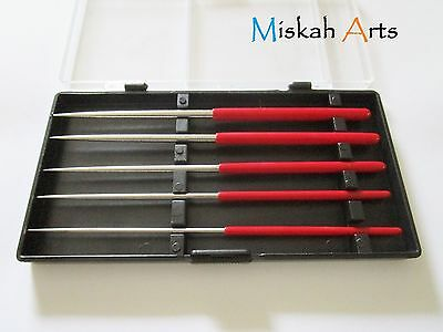 5 Different Sized Awls + Case - Beading Awl Set- Handy Craft Tools