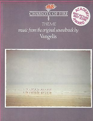 Vintage 1981 Vangelis Chariots Of Fire Movie Theme Piano Guitar Sheet Music