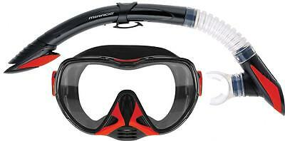 Mirage Diamond Gold Series Dive Mask & Snorkel Spearfishing Holiday Cruise New