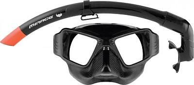 Mirage Alien Black Silicone Adult Snorkelling Dive Mask Spearfishing Cruise New