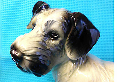 SEALYHAM TERRIER. Authentic Art Deco Large Hand painted figure. c.1930s. PERFECT