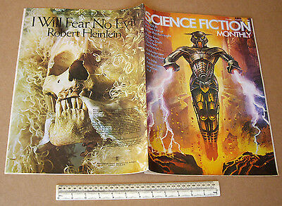 1974 Vintage Science Fiction Monthly V1 #10 Large Format Art Orientated SF Mag