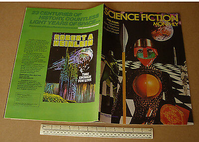 1974 Vintage Science Fiction Monthly V1 #5 Large Format Art Orientated SF Mag